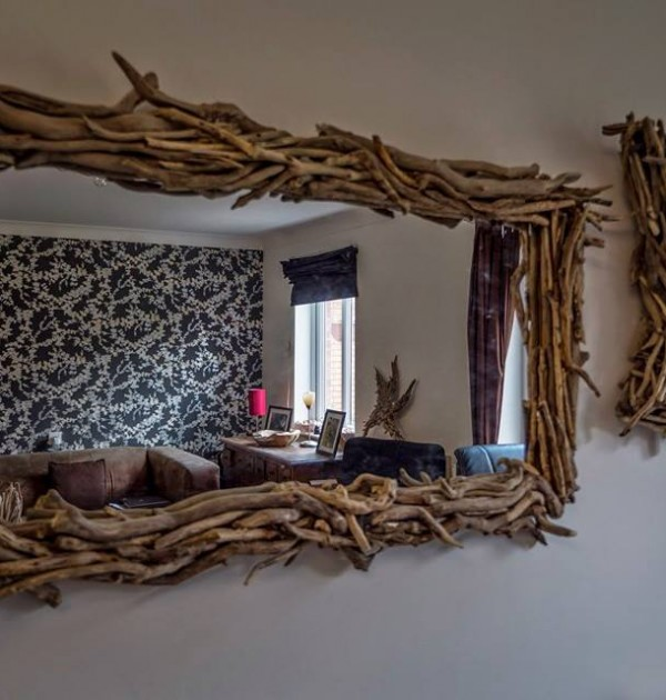 Large Driftwood Mirror Celtic Coast Creations