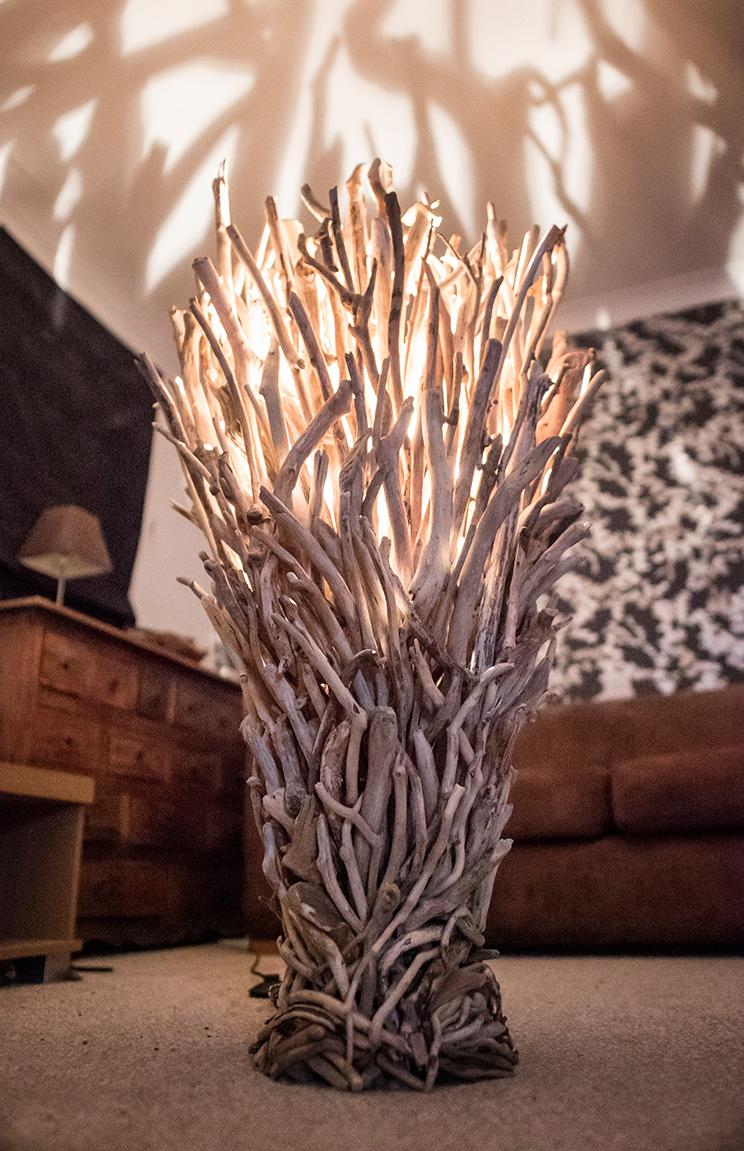 Superior Large Driftwood Floor Lamp