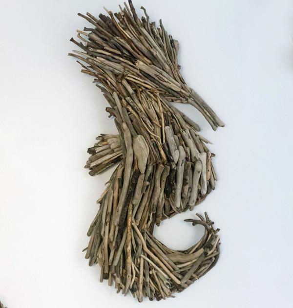 Driftwood Seahorse Wall Art
