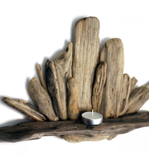 Driftwood Tealight Shelf