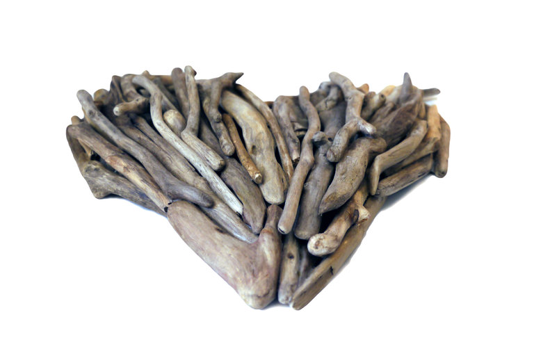Driftwood Heart Wall Art - side