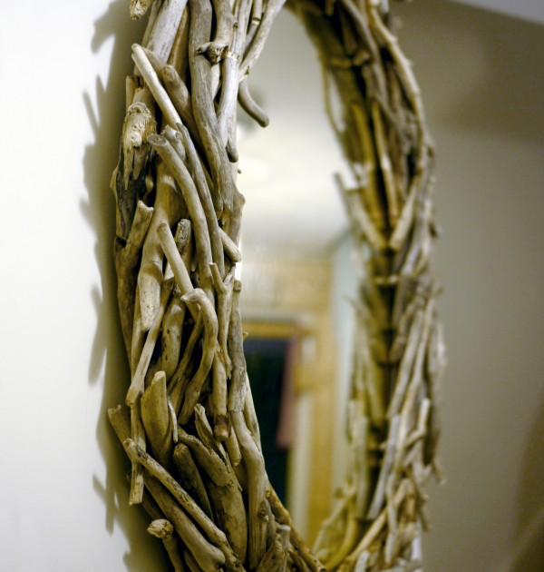 Large Oval Driftwood Mirror
