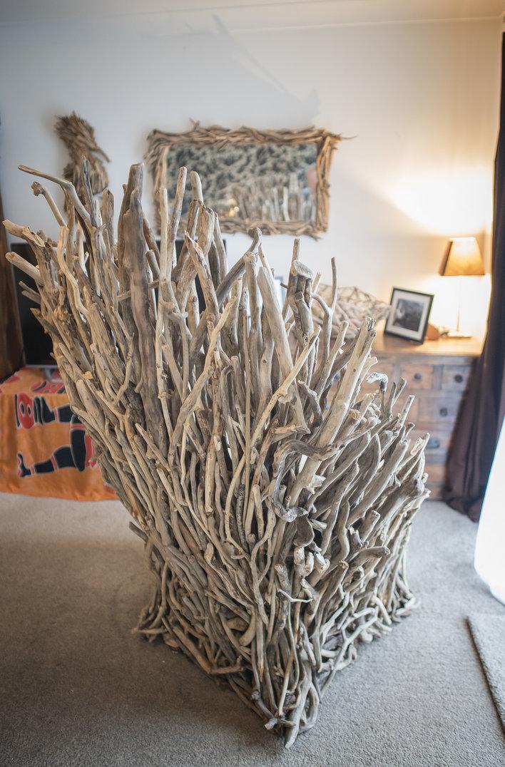 Driftwood Throne Back